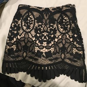 Lovers and Friends Lace Mini Skirt